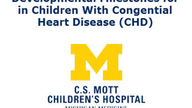 Thumbnail for entry Developmental Milestones in Children with Congenital Heart Disease (CHD)