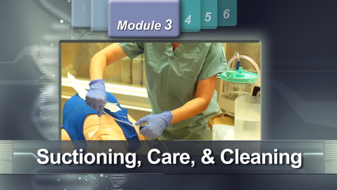Thumbnail for entry Tracheostomy - Chapter 3: Tracheostomy suctioning, care, and cleaning. (Modue 3 of 6)