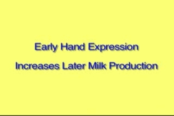 Video thumbnail for Hand Expression of Breastmilk