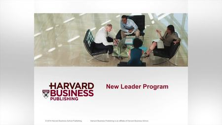 New Leader | Harvard Business Publishing Corporate Learning