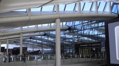 Preparing for take off: Heathrow Terminal 2