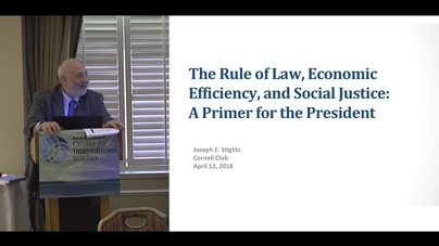 The Rule of Law, Economic Efficiency, and Social Justice: A Primer for the  President - CornellCast