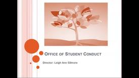 Thumbnail for entry Office for Student Conduct