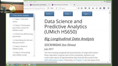 Thumbnail for entry DSPA Chapter 18 Big Longitudinal Data Analysis (Timeseries GEE GLMM SEM)