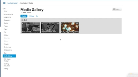 Thumbnail for entry Publish Media Gallery Playlist in a Canvas Module