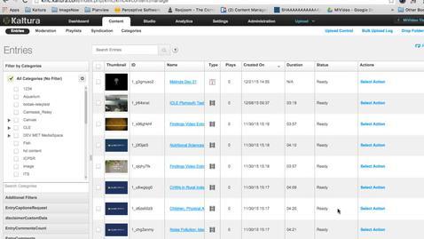 Thumbnail for entry Bulk Media Upload with CSV File