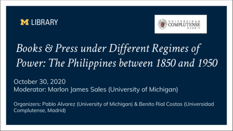 Thumbnail for entry Books and Press Under Different Regimes of Power - October 30th, 2020