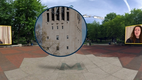 Thumbnail for entry 360° Tour of the University of Michigan: Diag Part 1