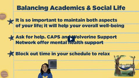 Thumbnail for entry Balancing Academics and Social Life