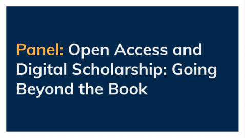 Thumbnail for entry Open Access Publishing in Asian Studies - Part 2 - Panel on Open Access and Digital Scholarship: Going Beyond the Book