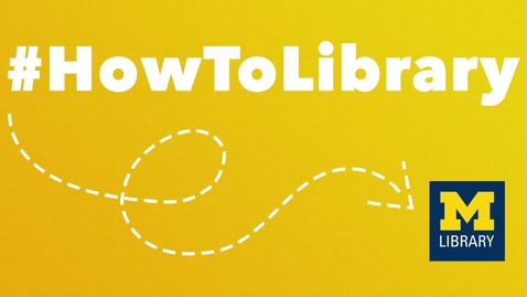 Thumbnail for entry #HowToLibrary: Getting Help at the Library