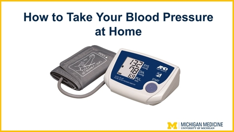 Thumbnail for entry How to Take Your Blood Pressure at Home