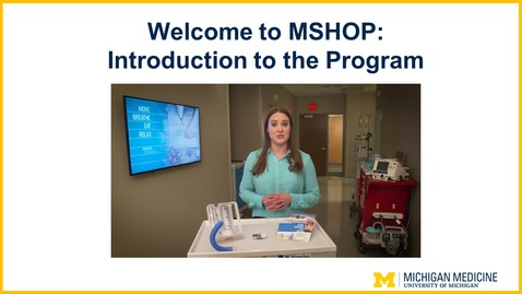 Thumbnail for entry Welcome to MSHOP: Introduction to the Program