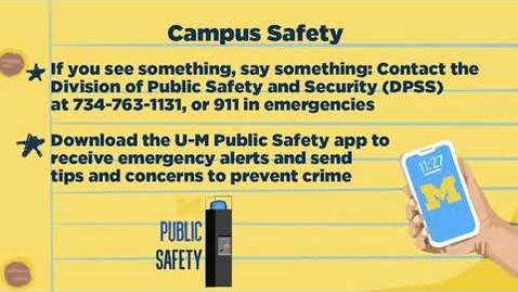 Thumbnail for entry Campus Safety and Security