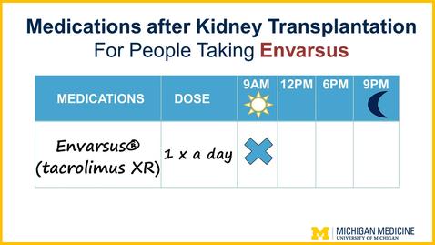 Thumbnail for entry Envarsus: Medications after Kidney Transplantation