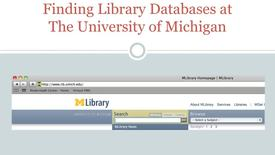 Thumbnail for entry Finding Databases