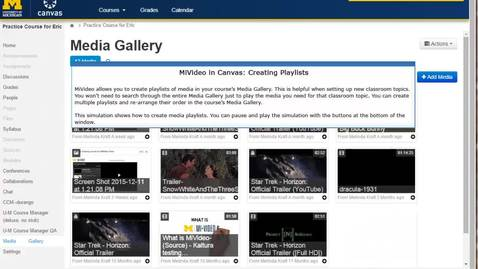Thumbnail for entry Creating Playlists in Media Gallery (No Audio)