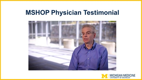 Thumbnail for entry MSHOP Physician Overview