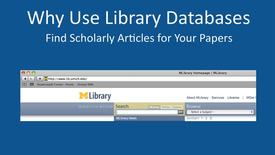 Thumbnail for entry Why Use Library Databases?
