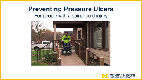Thumbnail for entry Preventing Pressure Ulcers: For people with a spinal cord injury
