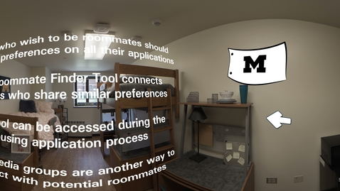 Thumbnail for entry 360° Tour of the University of Michigan: Residences