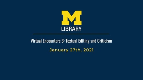 Thumbnail for entry Textual Editing and Criticism: Principles and New Perspectives