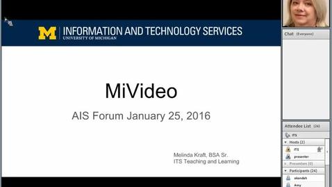 Thumbnail for entry MiVideo: A Totally Cool Produt - AIS Forum Jan 25, 2016