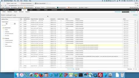 Thumbnail for entry Kaltura XML Drop Folder Demonstration