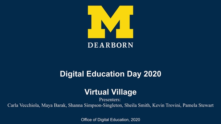 Thumbnail for channel UM-Dearborn Digital Education Day 2020