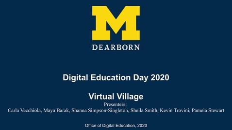 Thumbnail for entry Digital Education Day 2020 - Virtual Village