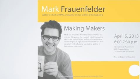 Thumbnail for entry Frauenfelder promo for Duderstadt Center screens
