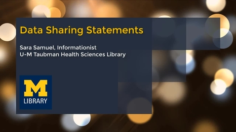 Thumbnail for entry Data Sharing Statements