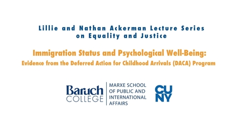 Thumbnail for entry Immigration Status and Psychological Well-Being: Evidence from the Deferred Action for Childhood Arrivals (DACA) Program