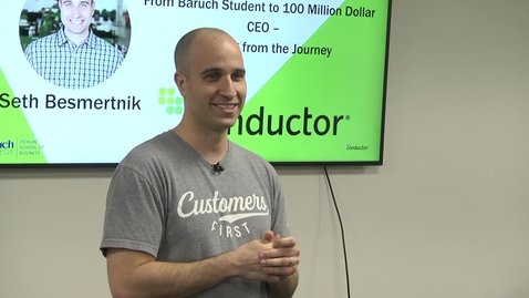 Thumbnail for entry From Baruch Student to 100 Million Dollar : CEO Learning from the Journey