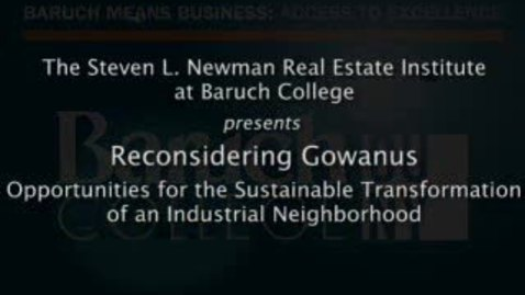Thumbnail for entry Reconsidering Gowanus: Opportunities for the Sustainable Transformation of an Industrial Neighborhood