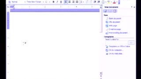 Thumbnail for entry Introduction to Microsoft Word 2003: Formatting