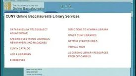 Thumbnail for entry Getting Started: Using the Newman Library (CUNY Online BA) (Part 1)