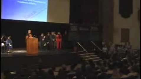 Thumbnail for entry Baruch College Convocation (2008): Part I
