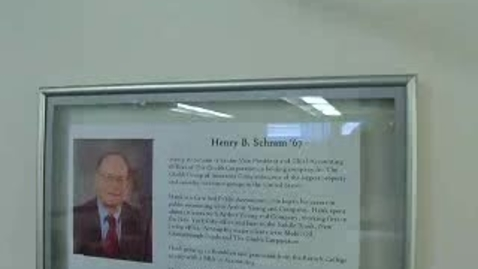 Thumbnail for entry Dedication of the Hank Schram Classroom