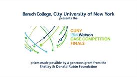 CUNY-IBM Watson Case Competition Finals