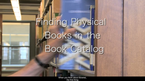 Thumbnail for entry 5.Finding Physical Books in the Book Catalog