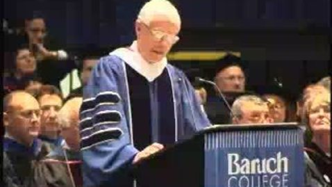 Baruch College Commencement (2004): William Donaldson
