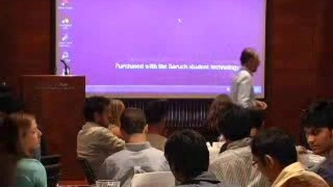 Thumbnail for entry Zicklin Honors MBA Orientation 2008 (Part 2)