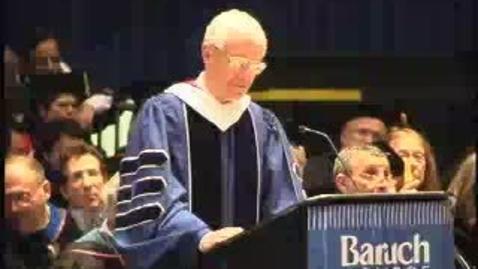 Thumbnail for entry Baruch College Commencement (2004): Presentation of Undergraduate Class Gift