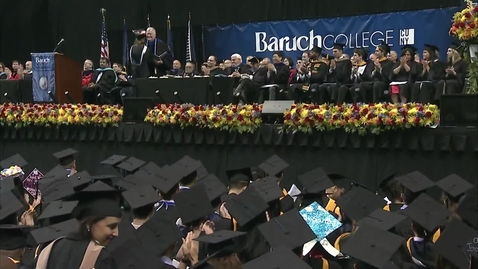 Thumbnail for entry Baruch College 52nd commencement exercises (2017). Part 3 of 3