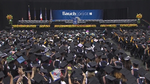 Thumbnail for entry Baruch College 52nd commencement exercises (2017). Part 1 of 3
