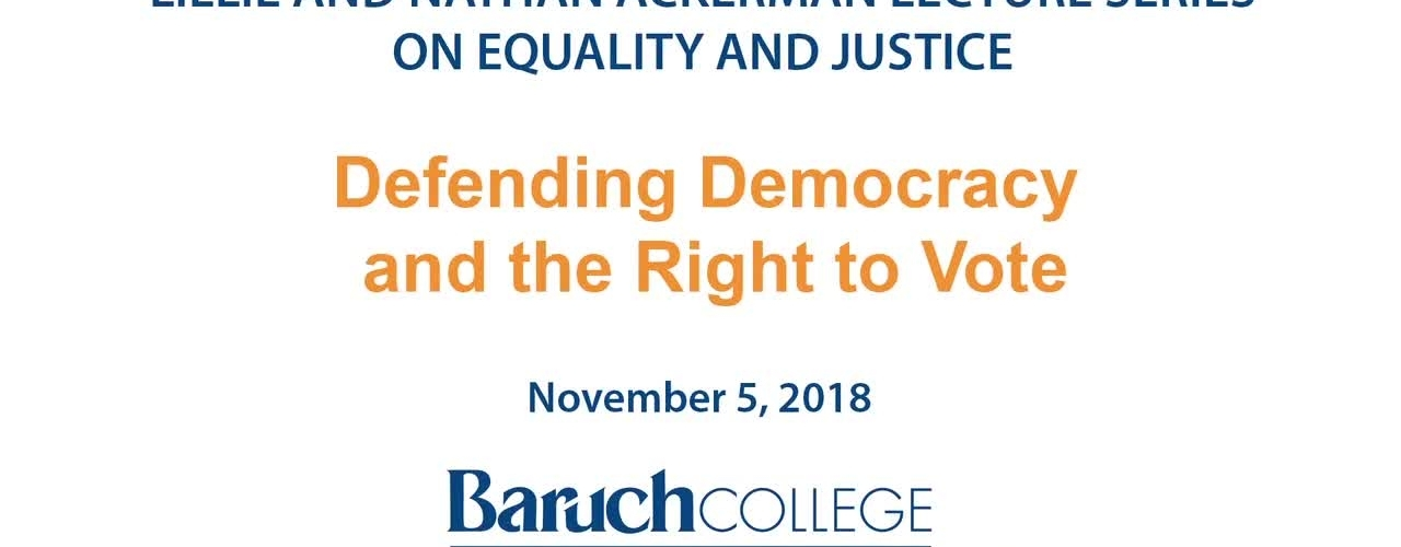 Defending Democracy and the Right to vote