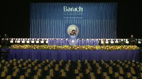 Thumbnail for entry Baruch College 49th commencement exercises (2014). Morning session.
