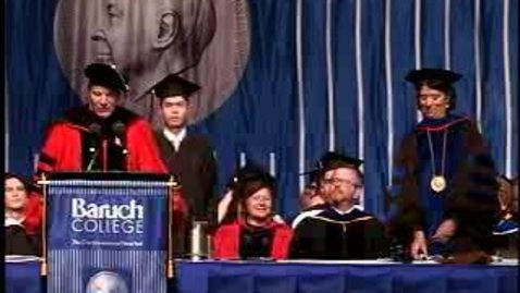 Thumbnail for entry Baruch College Commencement (2007, Morning Session): Degree Award, Zicklin School of Business