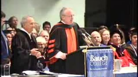 Thumbnail for entry Baruch College Commencement (2009): Keynote Speaker Sidney Harman